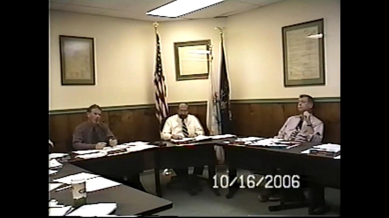 Champlain Village Board Meeting  10-16-06