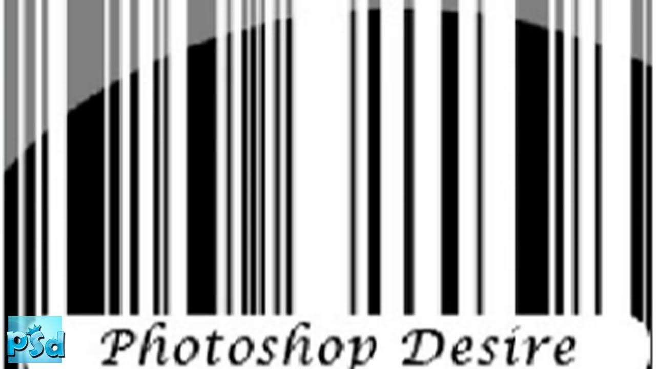 How to create a barcode with photoshop