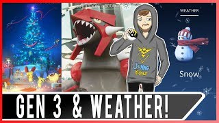 POKEMON GO GENERATION 3 RELEASE! New Weather Bonus System! 50 New Gen 3 Pokemon! New Title Screen!