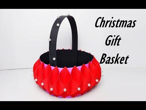 DIY Paper Basket | Christmas Gift Basket | How to Make Paper Basket in Easy Way |