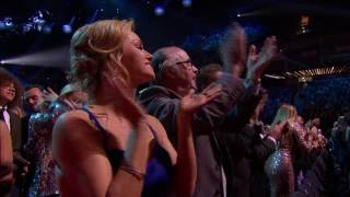 Legendary comedian 89 year old Sir Ken Dodd get's a standing ovation at the 2017 NTA's