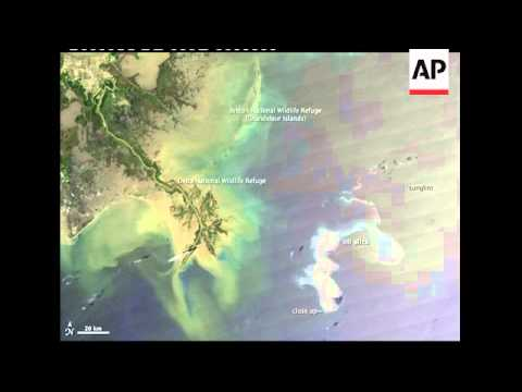 NASA pictures show extent of growing oil spill