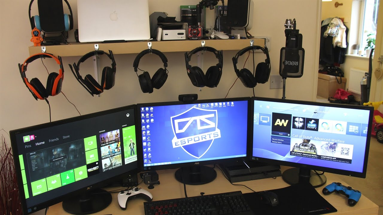 My Gaming Setup Temporary Layout Triple Aoc 24