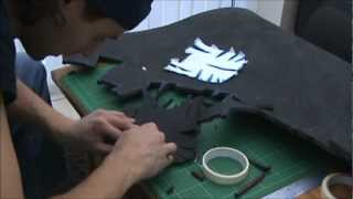 2B - (cutting the foam) Foam Pepakura Iron Man Suit/Armor explanation
