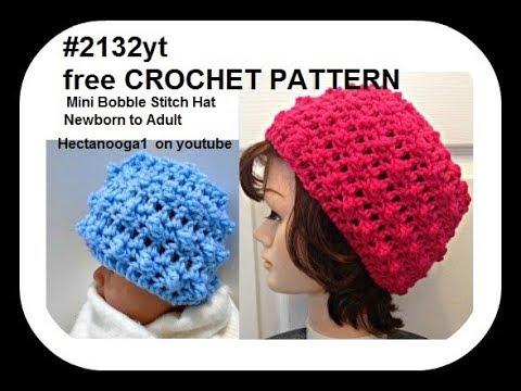 783bad86137 How to crochet a MINI BOBBLE STITCH CROCHET HAT