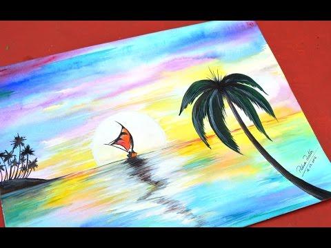 Como Desenhar Paisagem E Pintar Com Aquarela Youtube