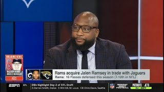 Marcus Spears REACTS to Rams acquire Jalen Ramsey in trade with Jaguars | ESPN SC