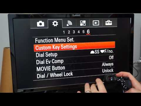 A7r Custom Button Settings