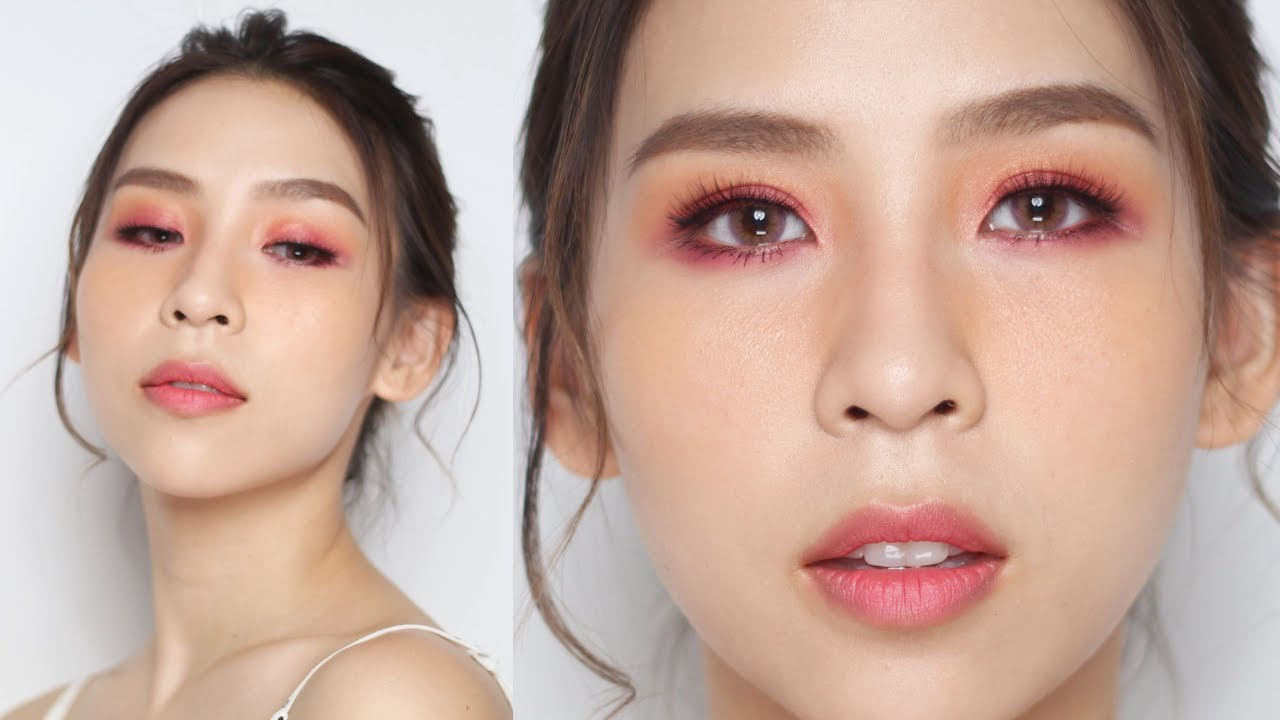 Pink & Orange Valentine's Day Makeup Look – Tina Yong