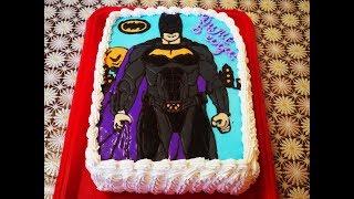 ТОРТ на день рождения Детский торт раскраска БЭТМЕН Как украсить торт Cake decorating Торты