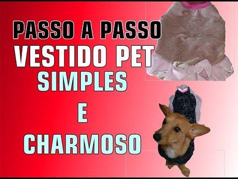 PASSO A PASSO VESTIDO SIMPLES E CHARMOSO PARA PET
