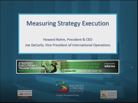 Measuring Strategy Execution