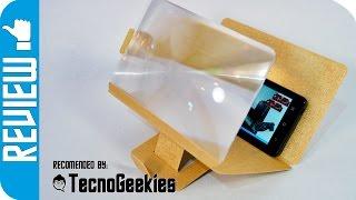 Ampliador de pantallas para telefonos moviles de AVENZO - Un mini proyector portable sin pilas