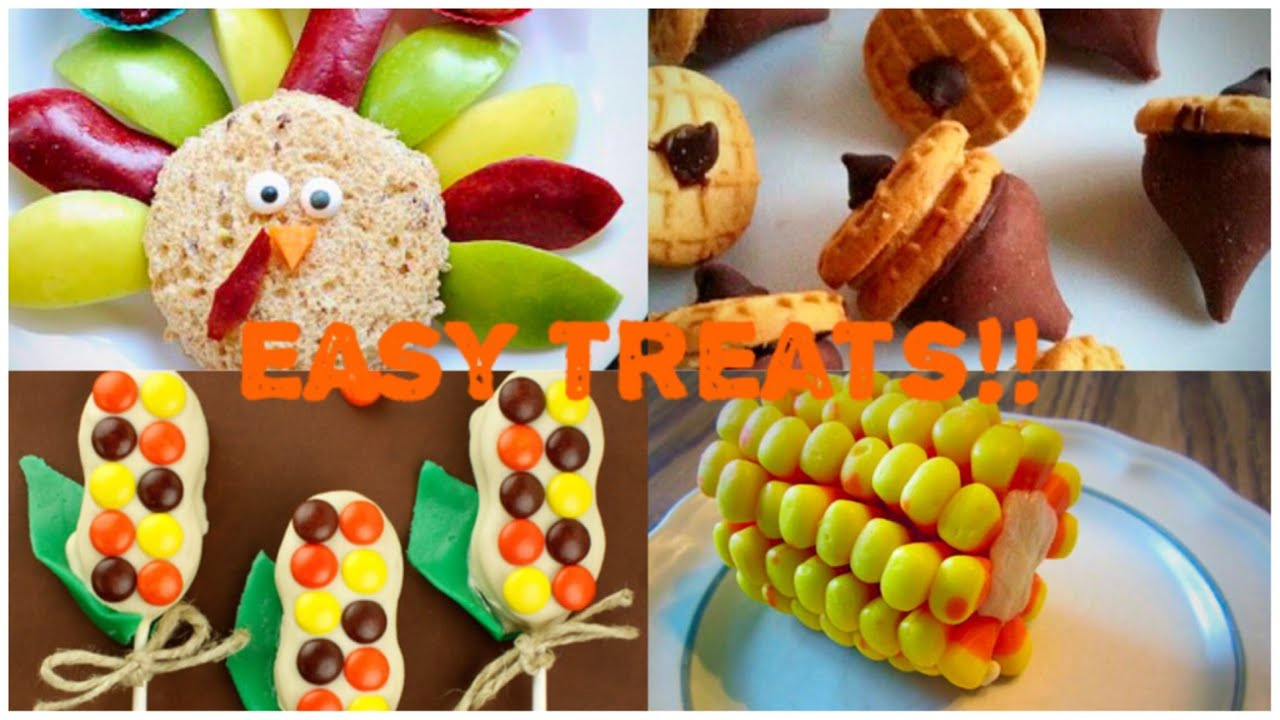 Elegant EASY DIY No Bake Thanksgiving Treat Ideas! (Great For Kids!)   YouTube Ideas