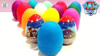 We opened many eggs Surprise PLAY DOH and PAW PATROL. What will be ...