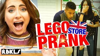 LEGO Store Prank: UK Edition (Priceless Tea Set Destroyed!) - REBRICKULOUS