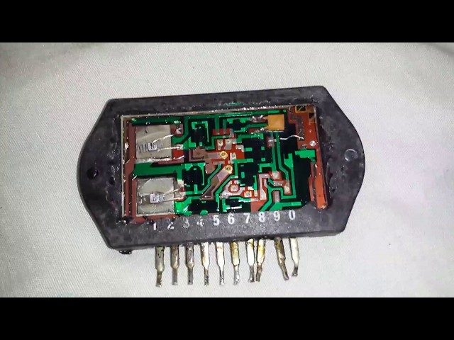 SANYO STK-025 Power amplifier module - Quick look at the internals