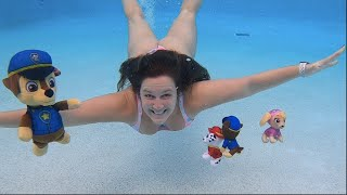 Paw Patrol Swimming Underwater Pool Party