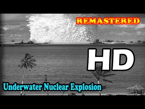 HD High Quality Underwater test explosion blast atomic bomb testing 1946