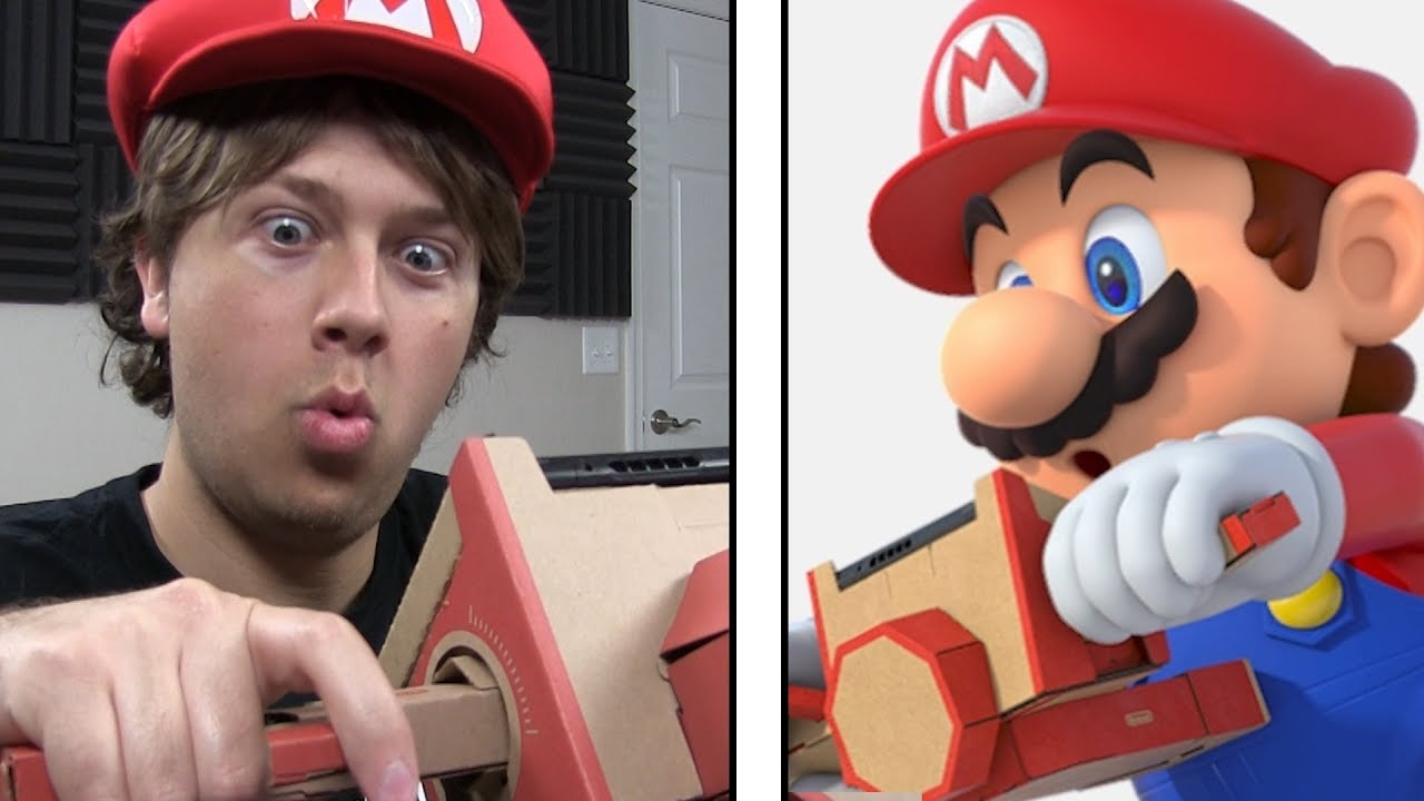 Playing Mario Kart with Cardboard (why labo)