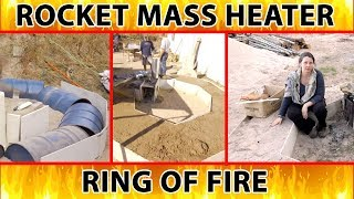ring of fire - outdoor campfire without smoke in your face
