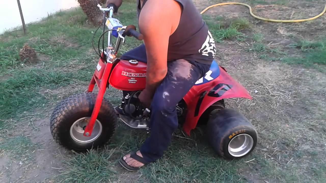Atc 70 Custom 125cc Pit Bike Motor Slicks Youtube