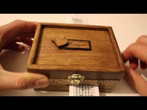Handmade music box by Gift of a kind ( Plays song Mary Lambert she keeps me warm )