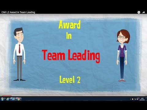 CMI L2  Award in Team Leading