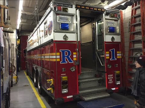 Exclusive Tour Of The Inside Of FDNY Rescue 1 & Their Fire House In Manhattan