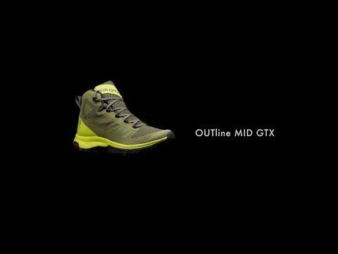 salomon outline mid gore-tex trail shoes - men's