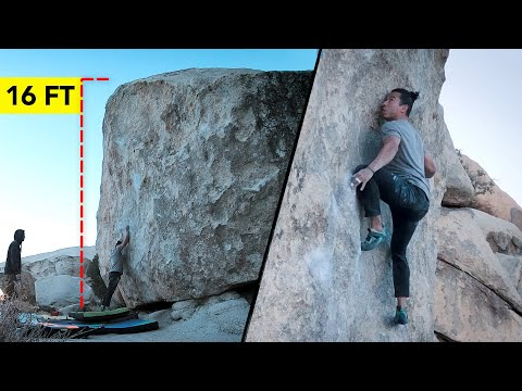 Overcoming my Fear of Heights: How I Climbed a 16 FT Boulder Problem ( Analysis )