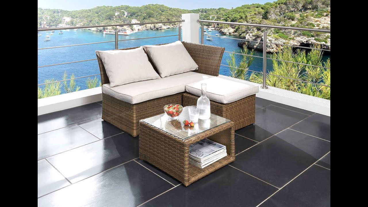 Sitzgruppe Balkon Destiny Collection ® - Loft Balkon Lounge - Youtube