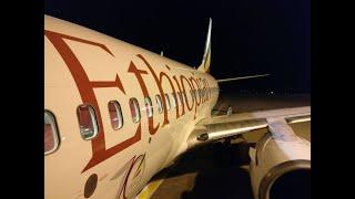 landing at Addis Ababa int airport