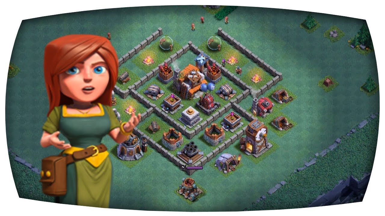Maxed Out Bauarbeiterbasis Clash Of Clans Update Youtube