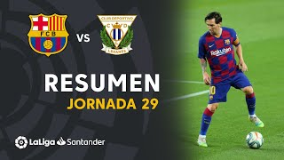Resumen de FC Barcelona vs CD Leganés (2-0)