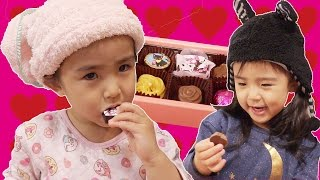 あさひ、初めてのチョコレートがおいしすぎてつい、、、