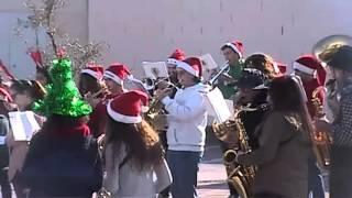 VILLANCICOS EN LA CALLE  BANDA DE MUSICA MUNICIPAL DE LOS SANTOS DE MAIMONA