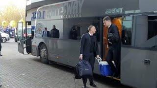 Her ankommer Manchester United-spillerne