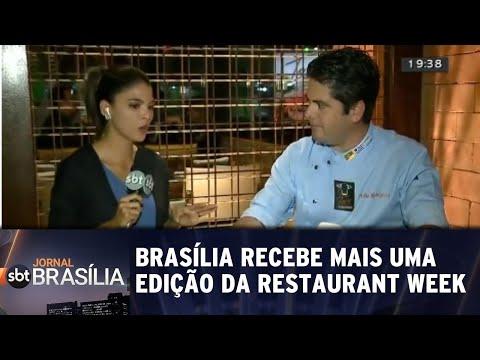 Brasília recebe mais uma edição da Restaurant Week | Jornal SBT Brasília 31/07/2018