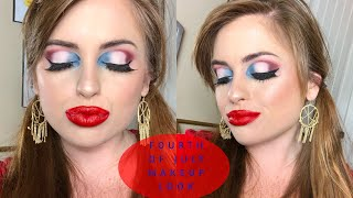 FOURTH OF JULY INSPIRED MAKEUP LOOK | RED, WHITE, AND BLUE EYE LOOK