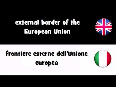SAY IT IN 20 LANGUAGES = external border of the European Union