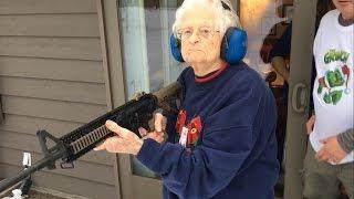 Bad Ass Grandma shoots AR15