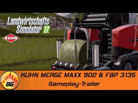LS17 - KUHN DLC | KUHN MERGE MAXX 902 & FBP 3135 | Gameplay-Trailer [HD]