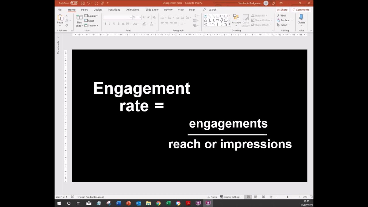 How to find the engagement rate for Facebook owned posts