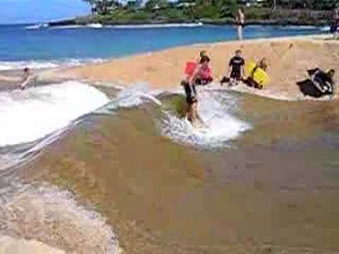 Surfing a standing wave on the North shore