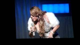 "Mariah Carey - ""Merci beaucoup"" so funny ( Angels advocate tour ) Montreal feb 4, 2010"