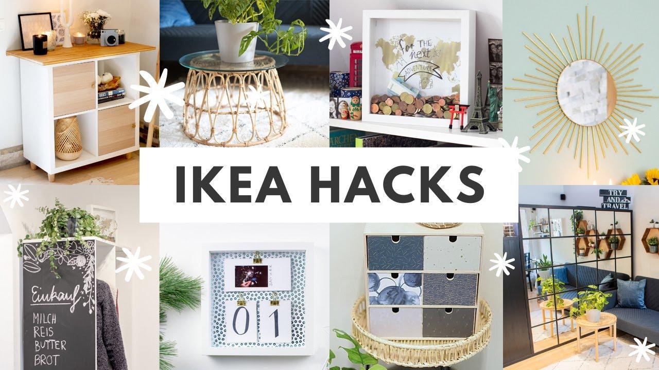20 IKEA HACKS 20 Einfache Interior & Deko Ideen   Möbel und Dekoartikel  umgestalten ikeahack