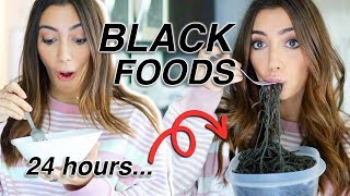 Eating only BLACK FOOD for 24 hours *it was unique*