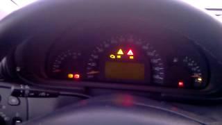 Запуск Mercedes C320 в -40 градусов.. Видеоурок от Жеки