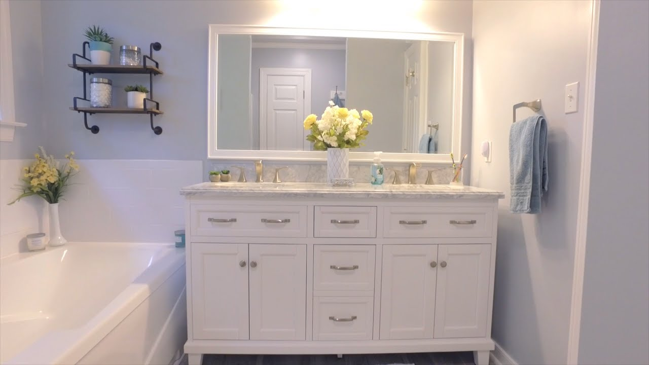 Diy Master Bathroom Reno For A Fraction Of What The Pros Cost - Youtube